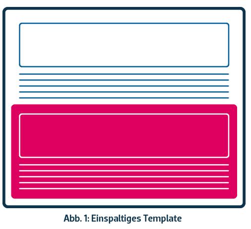 Newsletter-Template einspaltig